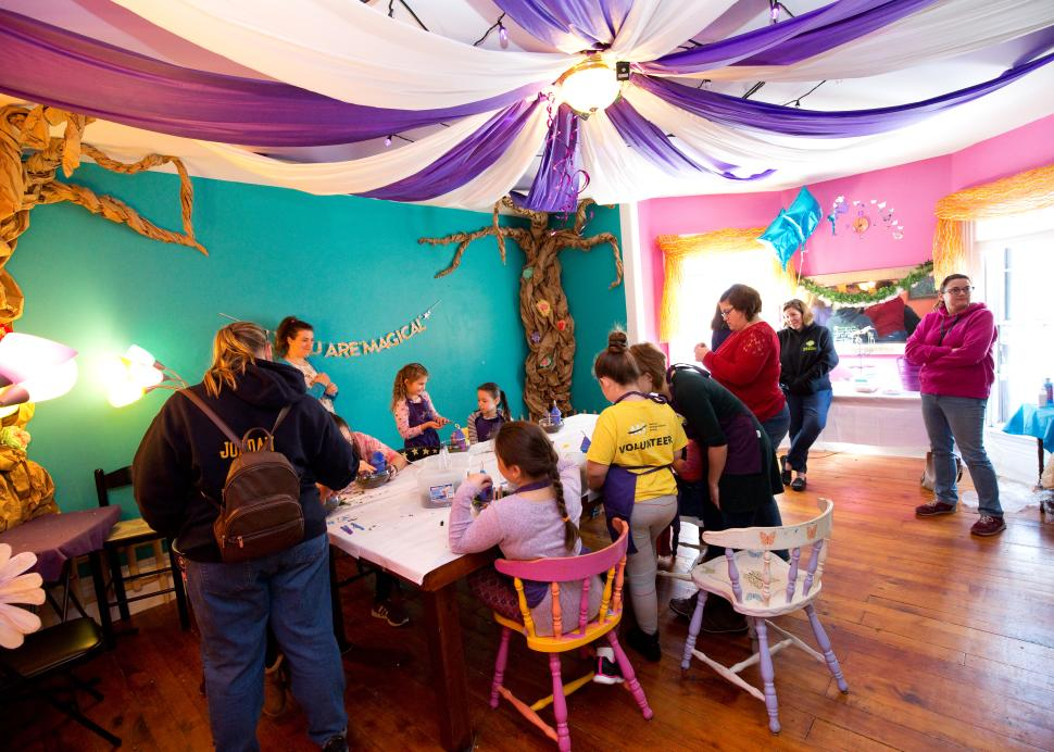 A child enjoys her birthday party at The Artful Fairy in Victor