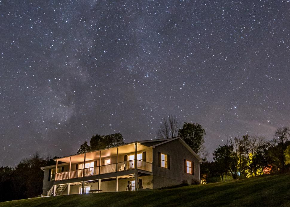 Enjoy star gazing from our lawns