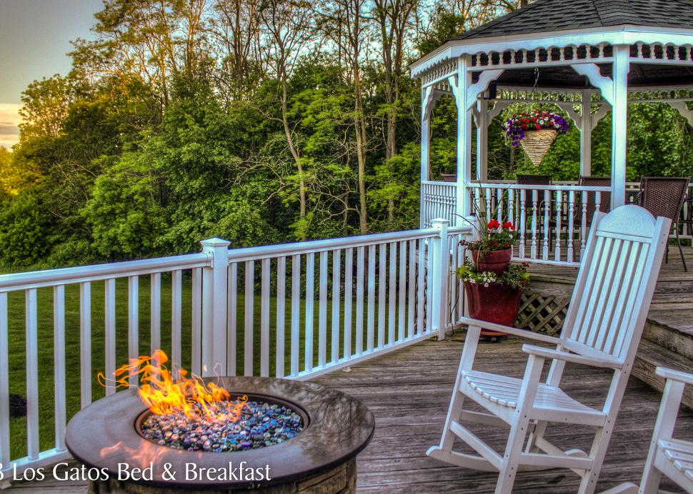 Unwind by the fire pit.