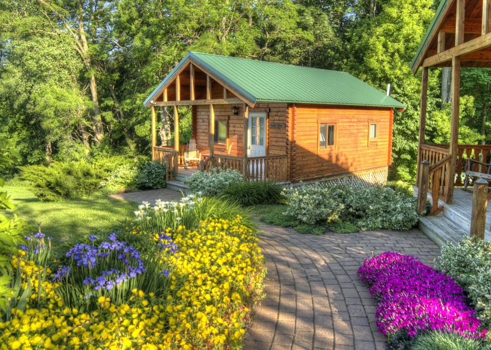 Stay in a romantic cabin!