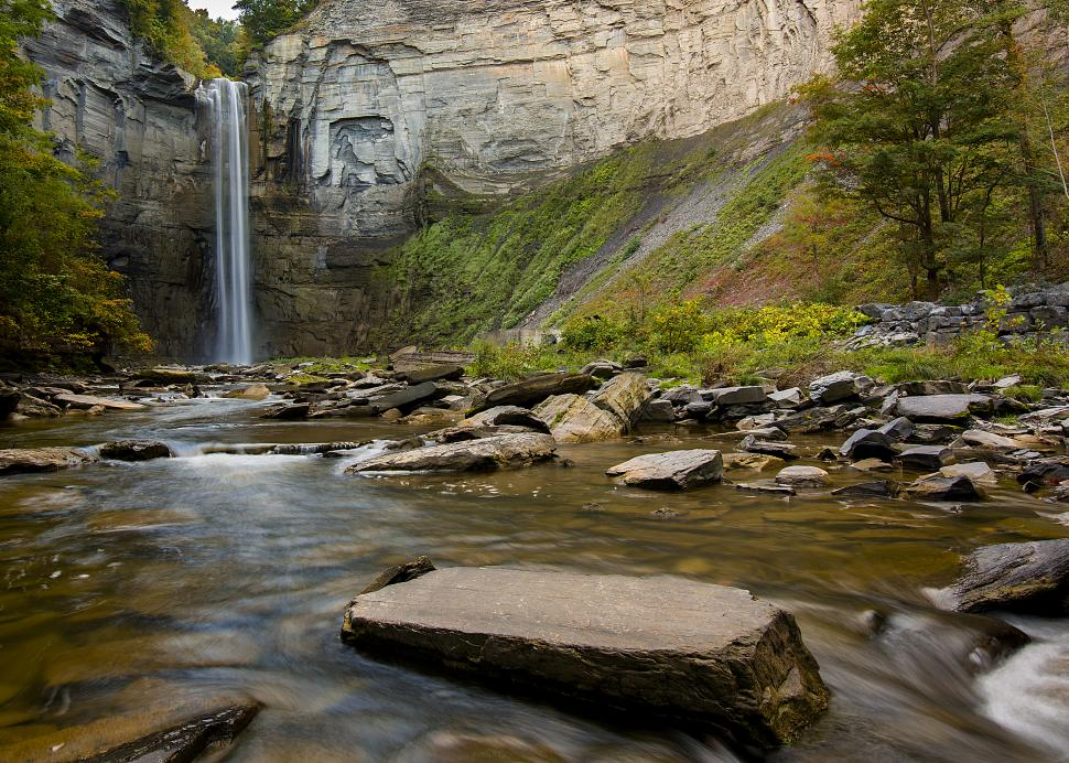 Brad Marzolf for Visit Ithaca Early Autumn Morning at Taughannock Falls