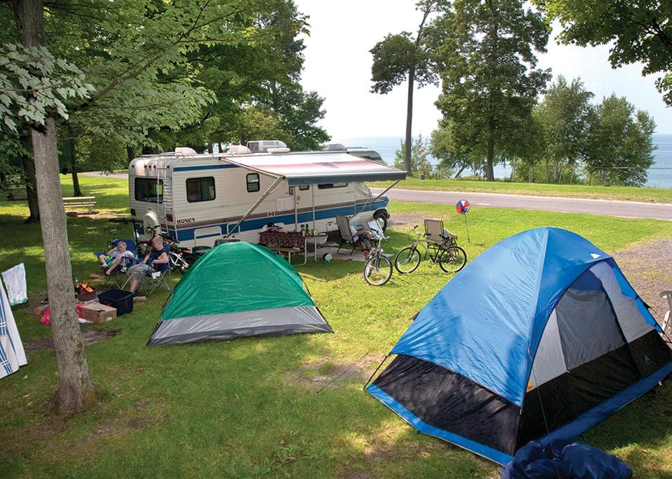 Camping at Fair Haven Beach State Park