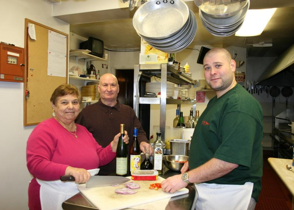 Staff in the kitchen at Casa de Pasta