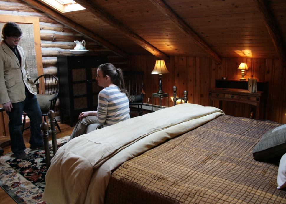 Spacious, yet cozy, bedroom at Chalet B&B