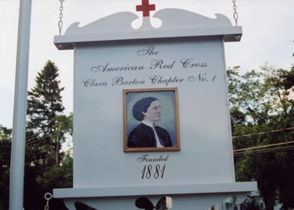 Clara Barton House Chapter No. 1 Sign, Photo Credit: American Red Cross, Clara Barton House
