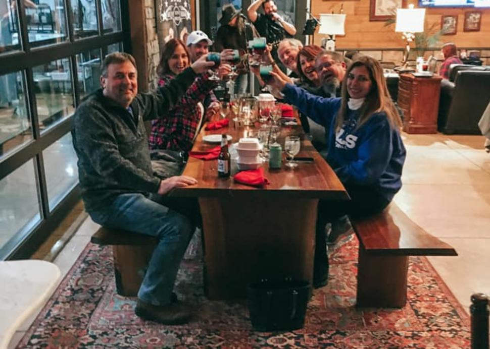 Group dining at Colloca