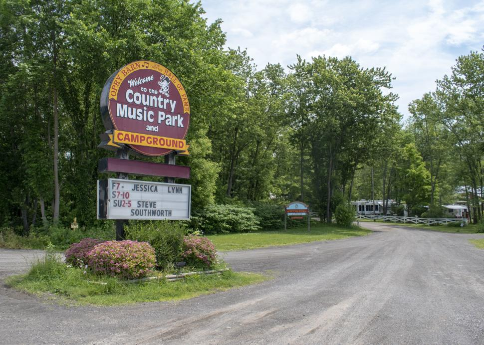 Cortland Country Music Park Campground entrance