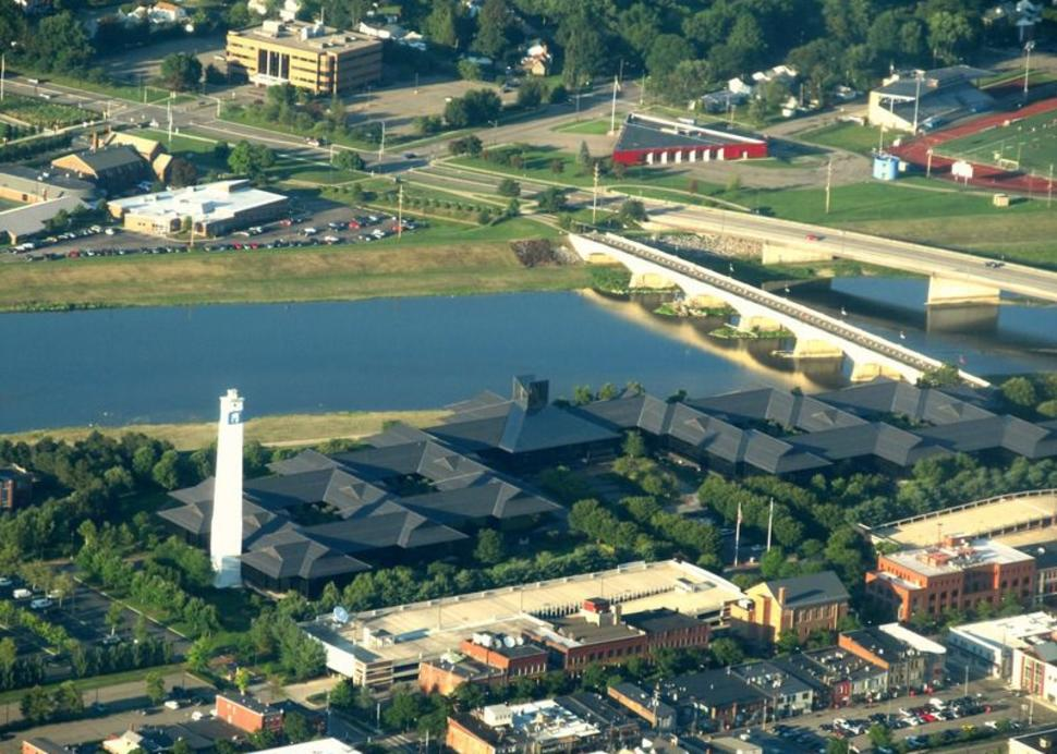 scenic flight with Costa Flying Service, view of Corning