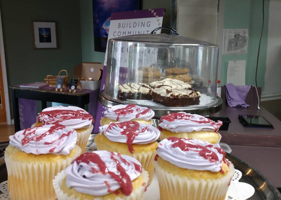 Cupcakes Inside Store