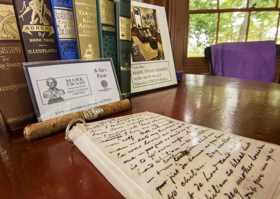 Twain's Desk at Mark Twain Study