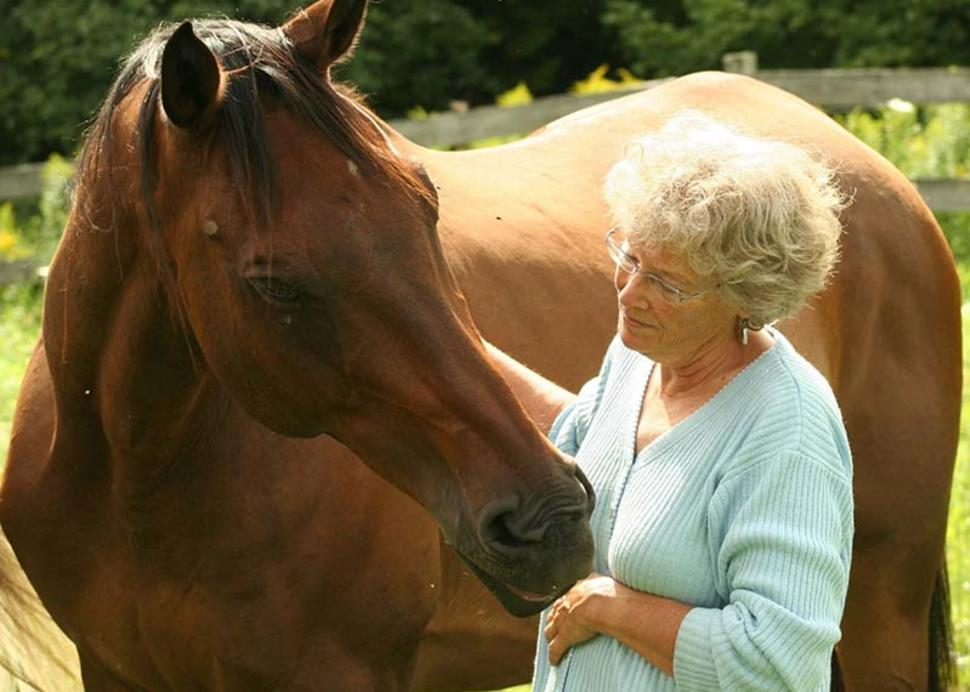 Edie-Jane Eaton connecting with a horse