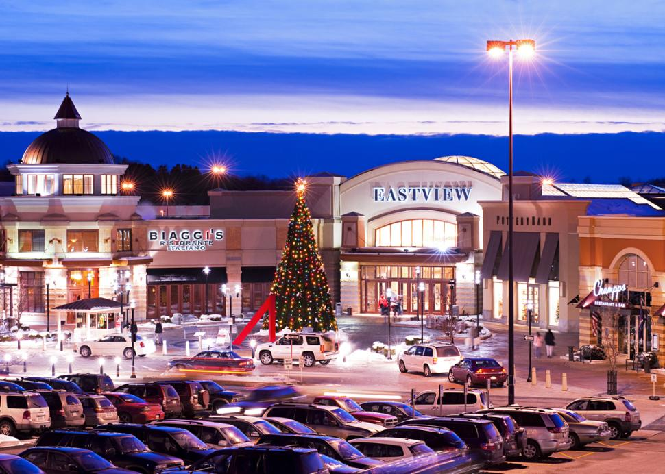 Finger-Lakes-Eastview-Mall-Victor-winter-sunset-holiday-mall