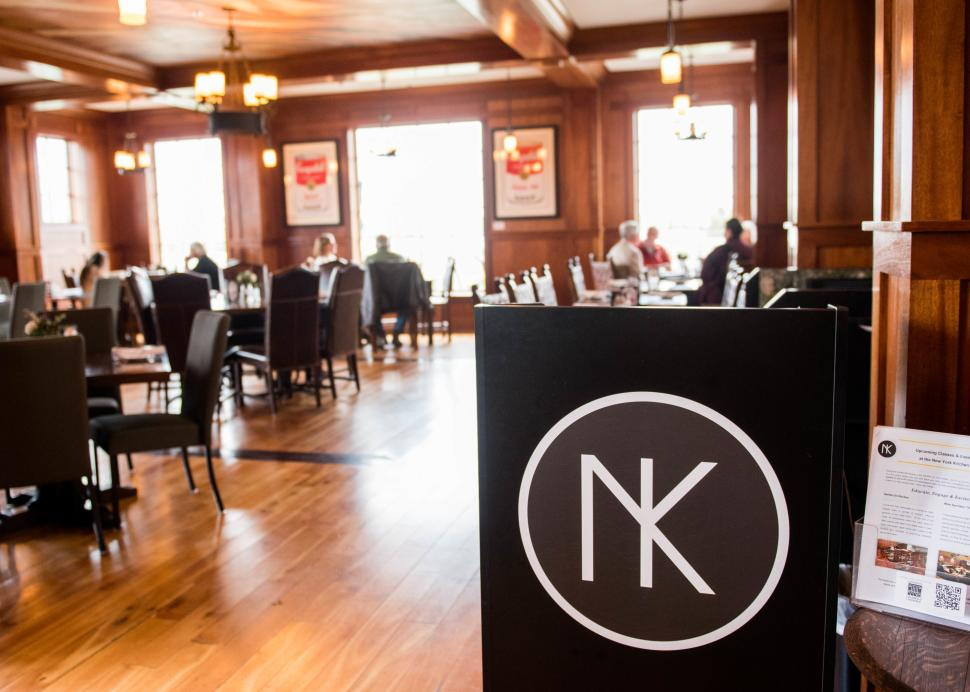 Inside of the New York Kitchen's large dining area