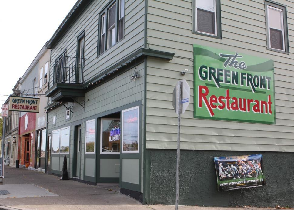 Outside of the Green Front Restaurant