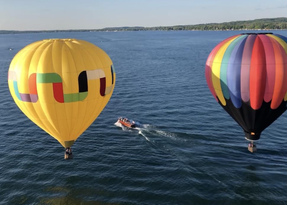Balloons over Canandaigua Lake