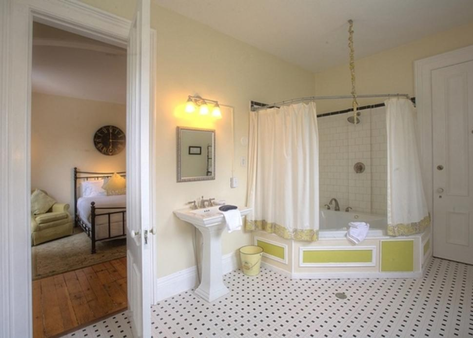 Interior of a bathroom inside of a suite at the William Smith Inn
