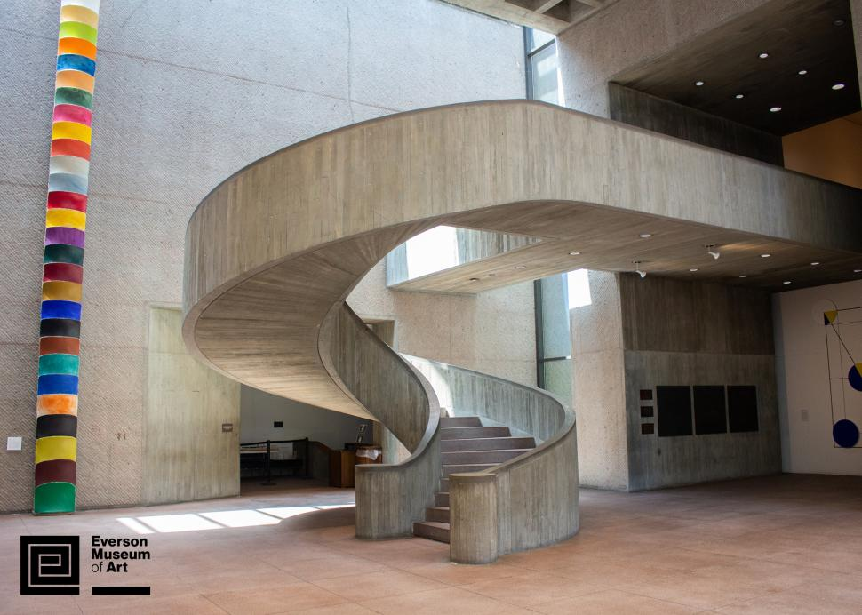 Everson Museum of Art spiral staircase; Photo Credit: Everson Museum of Art