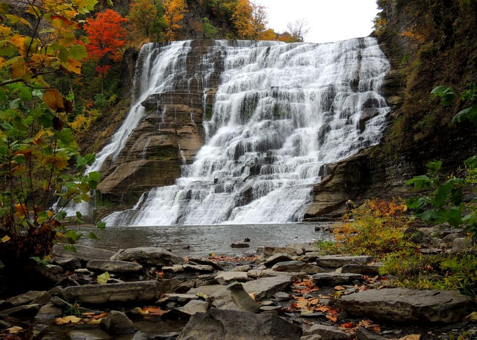 Ithaca Falls in fall