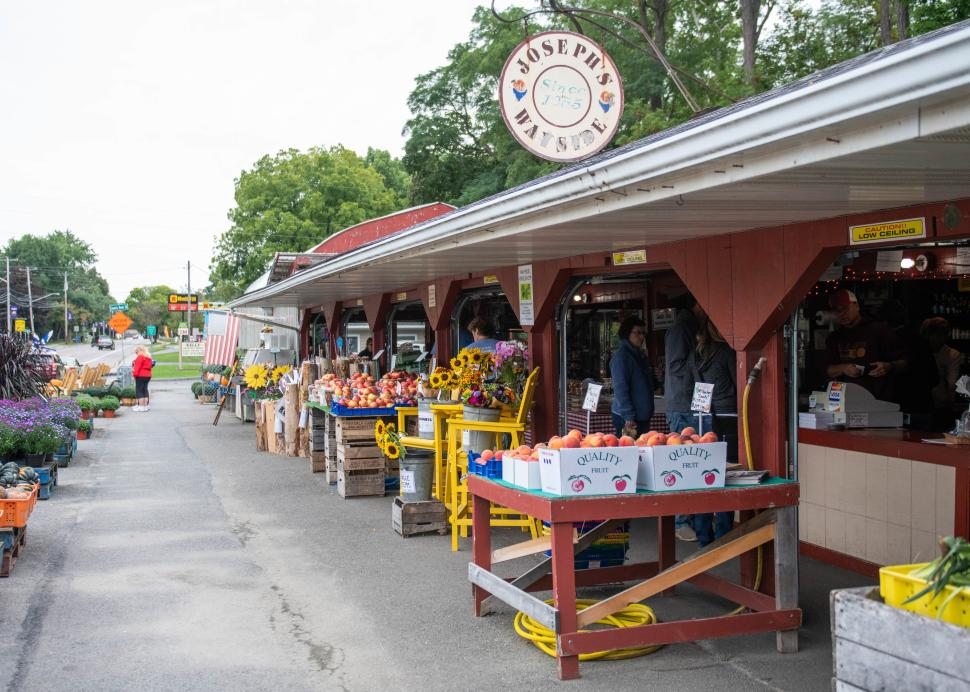 Photo of the stand at Joseph's Wayside Market