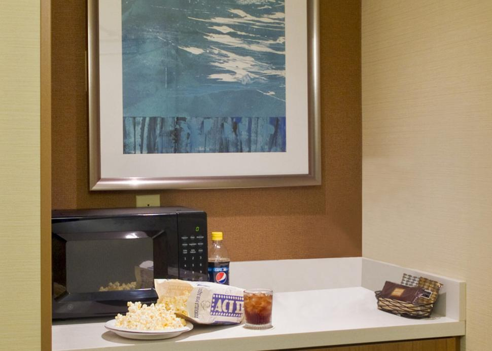Every guest room features a convenient kitchenette with microwave and mini-fridge