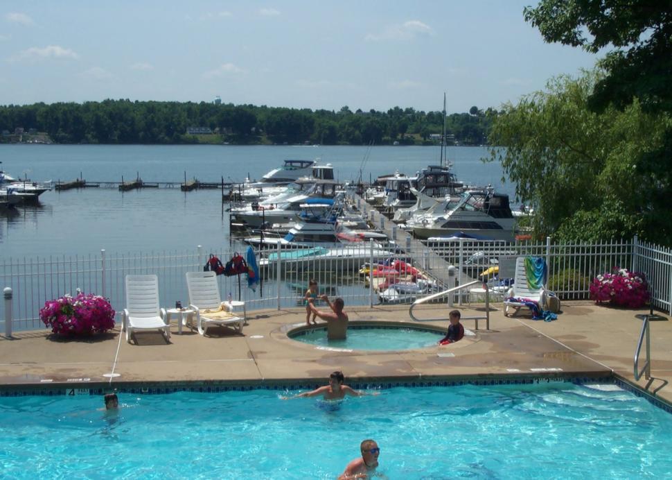Oak Park Marina Pool and marina