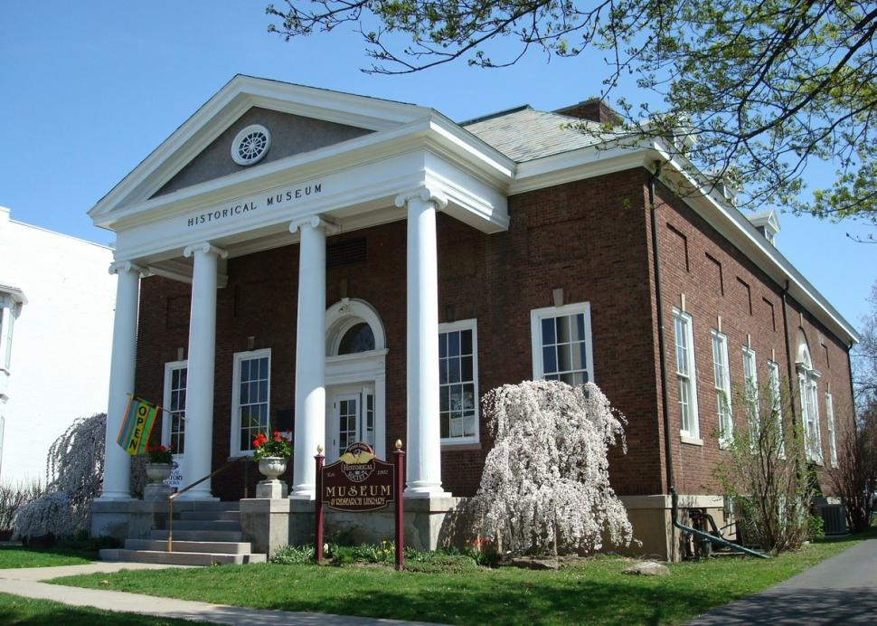 Outside of the Ontario County Historical Museum