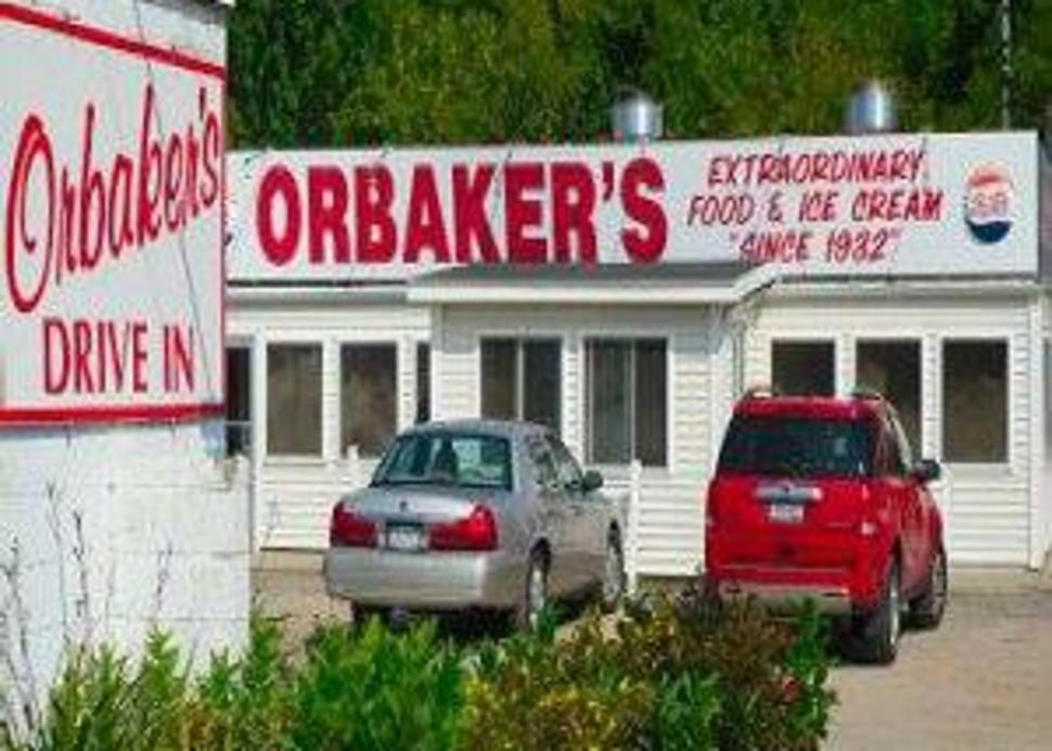 Orbakers exterior with sign