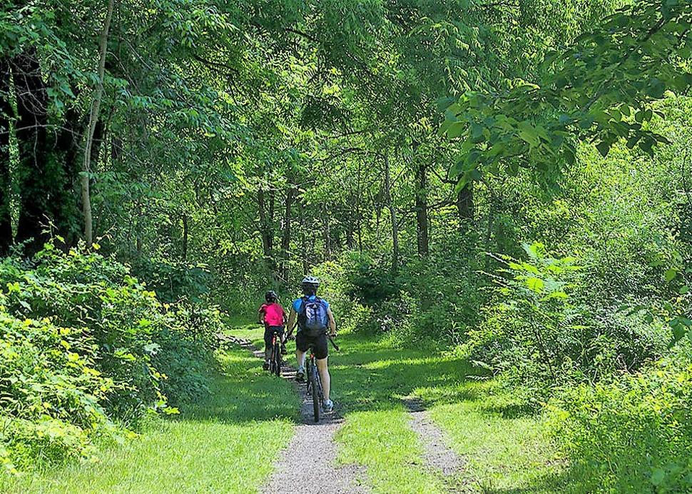 Bikers on the Keuka Lake Outlet Trail