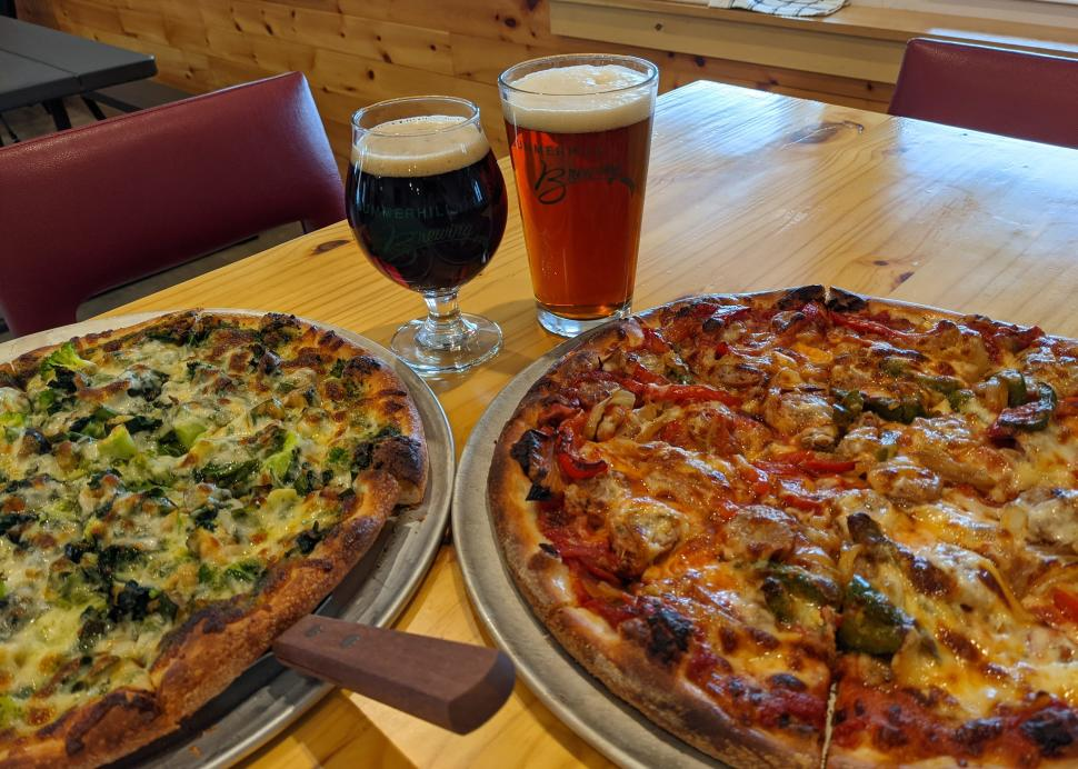Pizza and craft ales at Summerhill Brewing