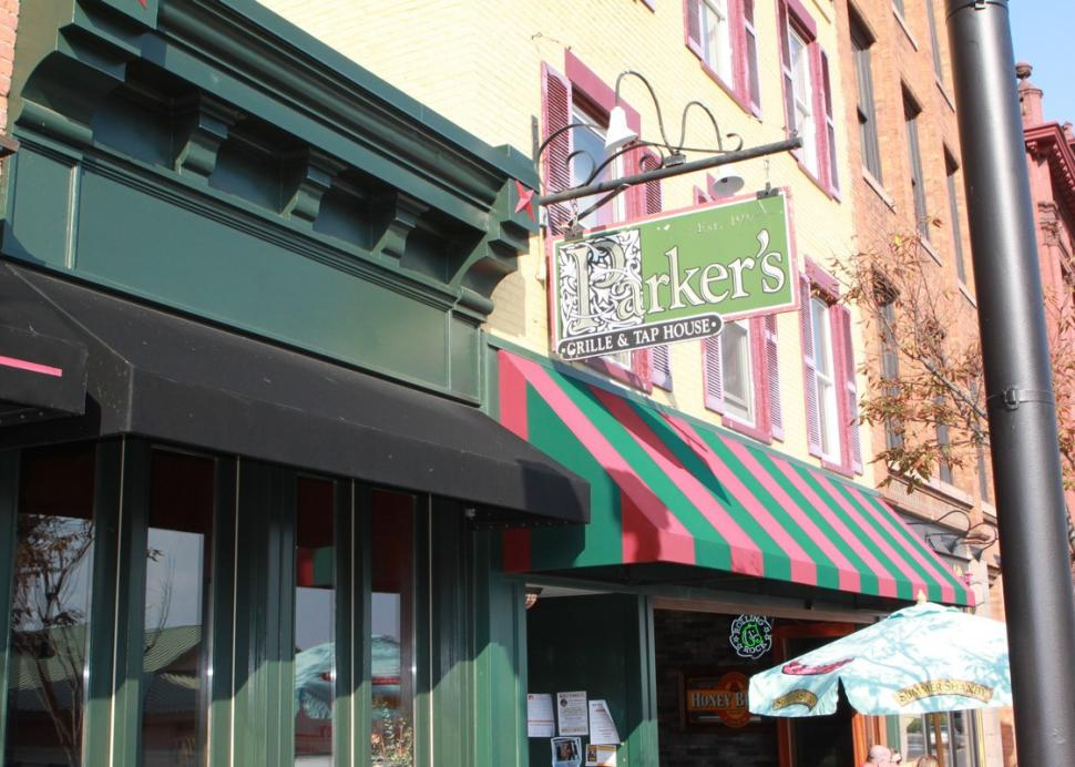 Front entrance to Parker's Grille and Tap House