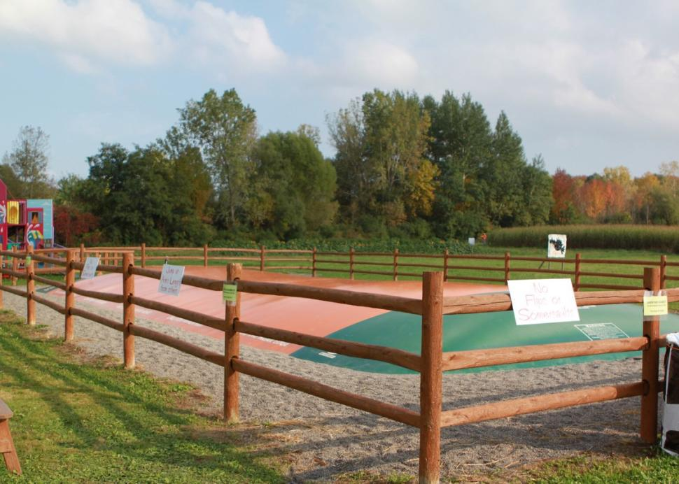 The kids can have a fun jumping experience at the Barnyard Bounce at the Pick'n Patch