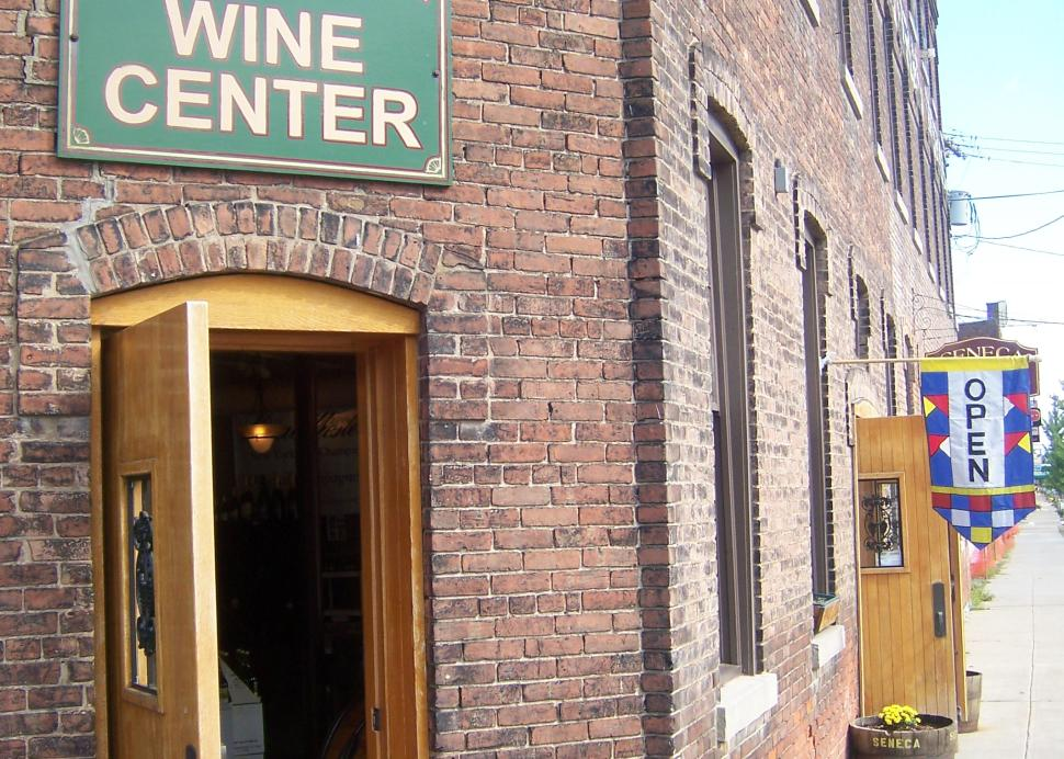 Wine tasting in downtown Watkins Glen