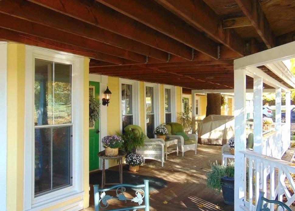 Unwind on the spacious porch
