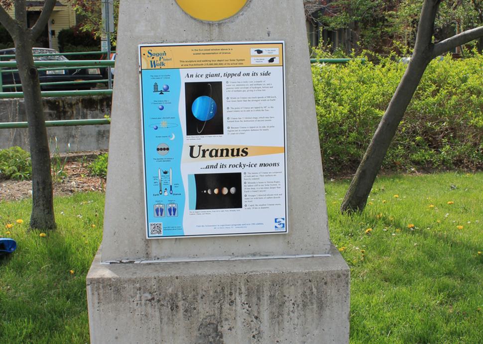 Carl Sagan Planet Walk - Photo Courtesy of Sciencecenter
