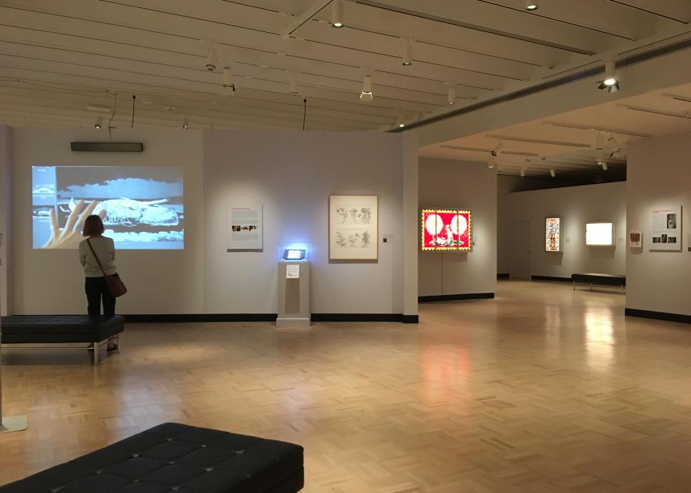 Schaechter video viewing at Memorial Art Gallery