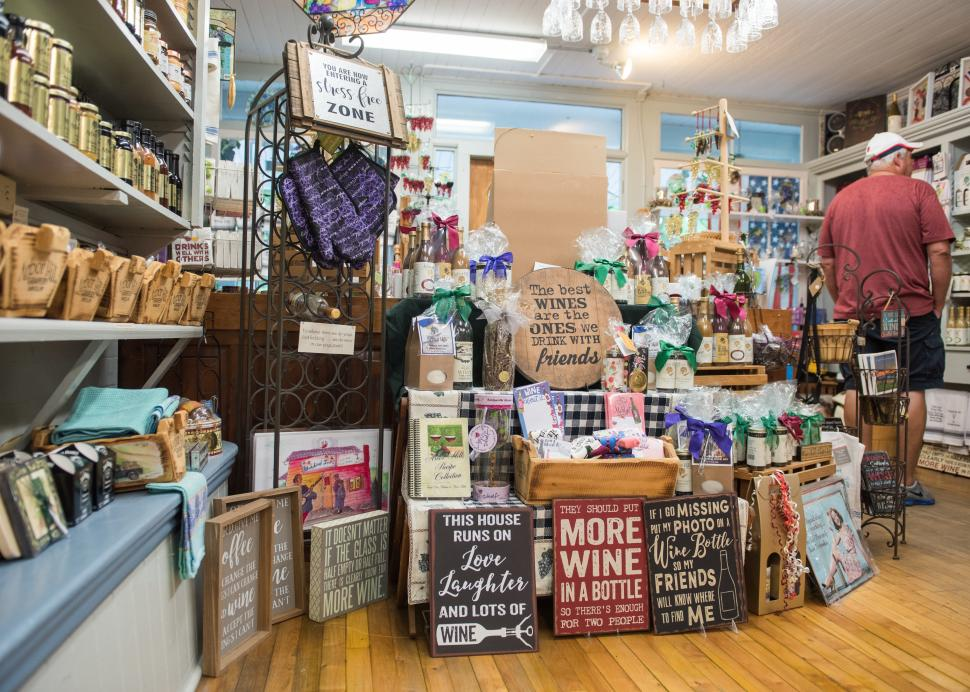 Interior of Arbor Hill's gift shop