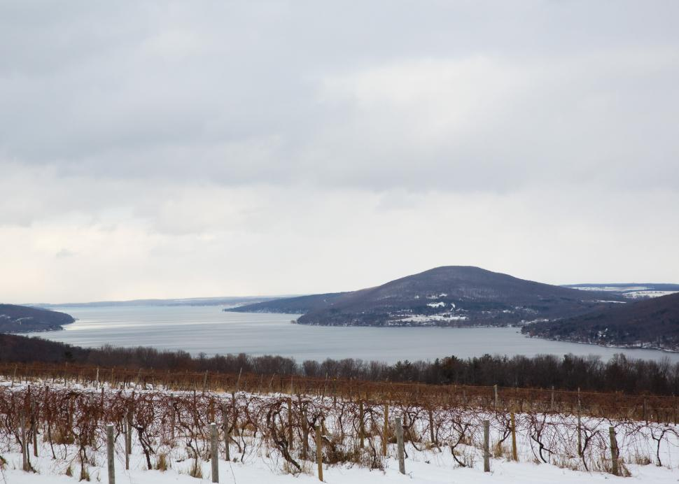 Photo of the County Road 12 Scenic Overlook Covered in Snow in the Wintertime