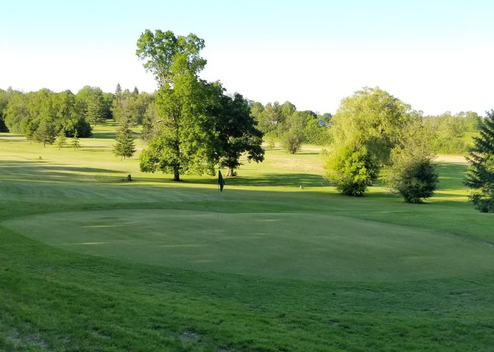 View from one of the holes on the golf course