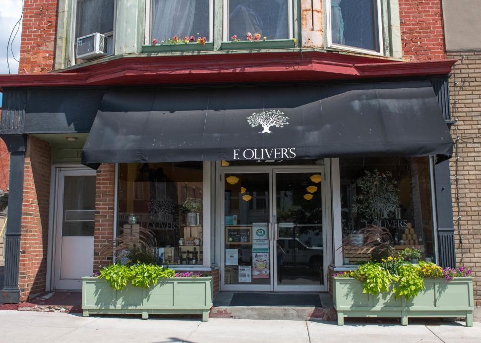 Exterior of F. Olvier's on Main Street Canandaigua