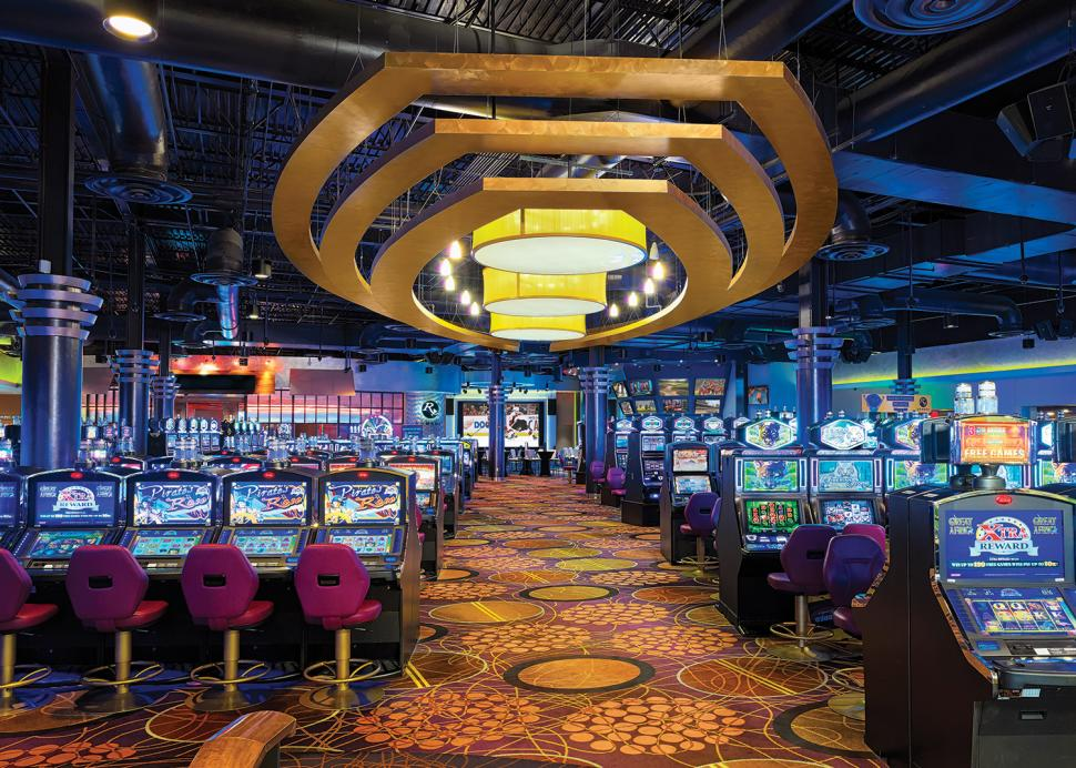 Interior of Finger Lakes Gaming and Racetrack