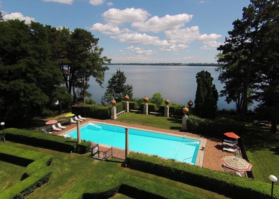 Photo of the Pool overlooking Seneca lake at Geneva on the Lake