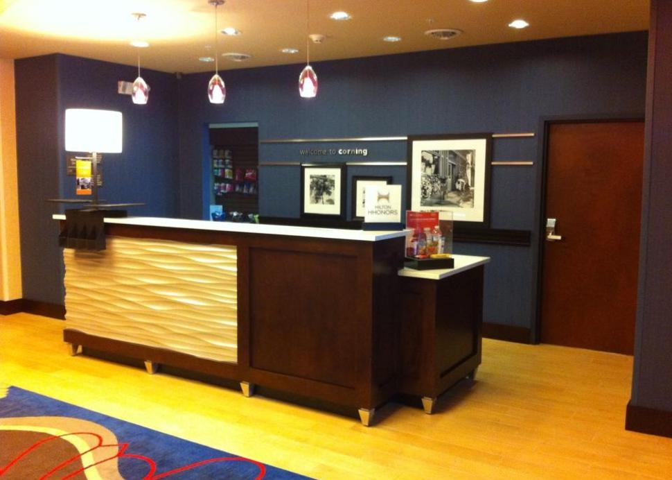 new Hampton Inn lobby