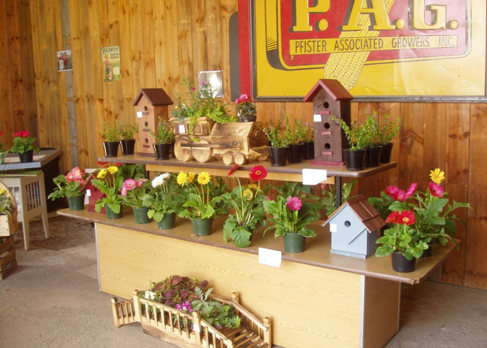 Photo of a display at Hardy's Farm Market in Victor