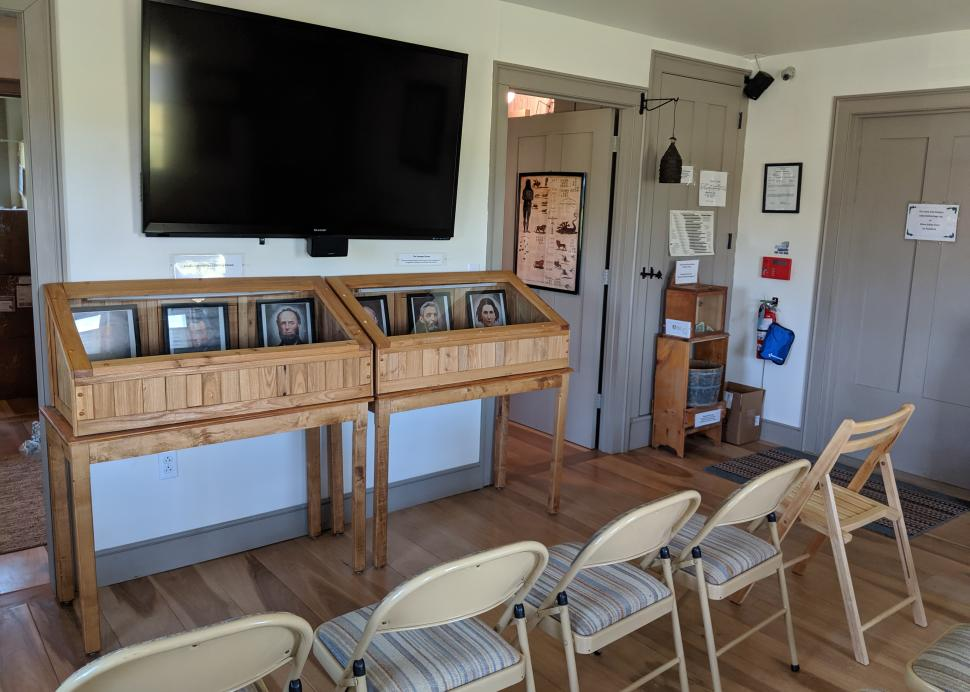 Inside the Welcome Center at Hiram Edson Farms