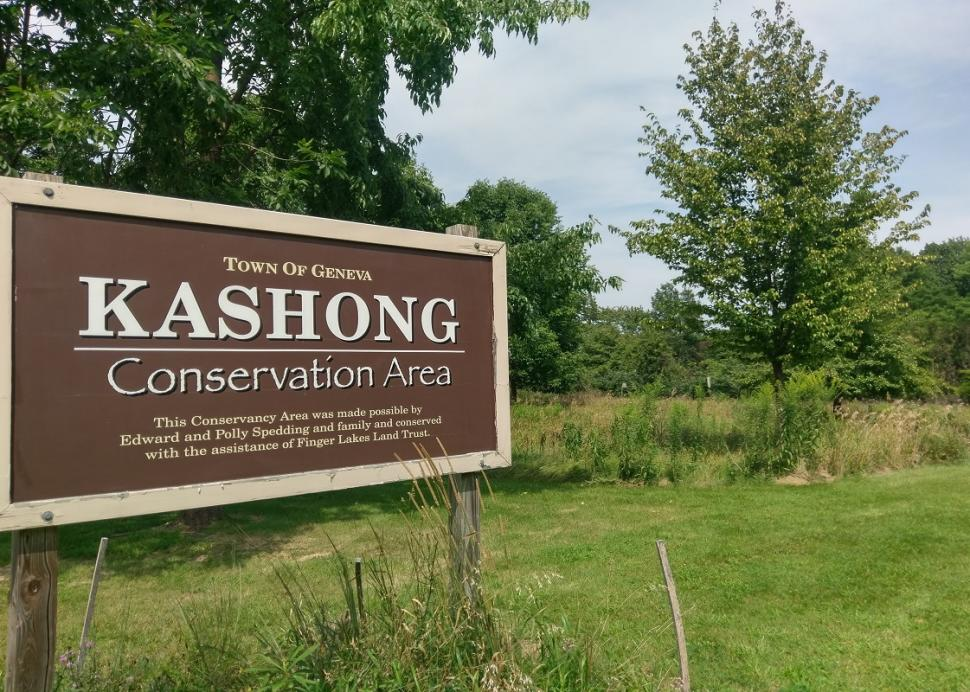 Photo of the sign outside of Kashong Conservation Area in Geneva
