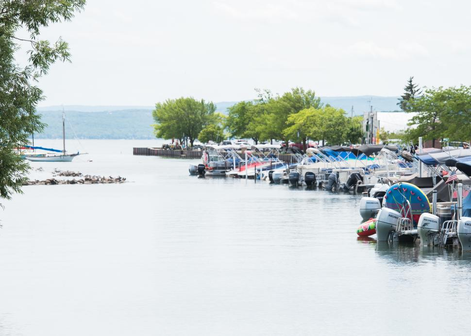 Photo of boats docking at the Canandaigua Pier