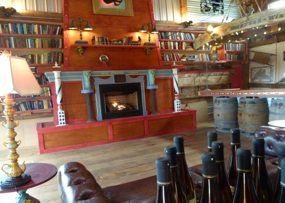 Inside of the Lacey Magruder Vineyard and Winery sitting area