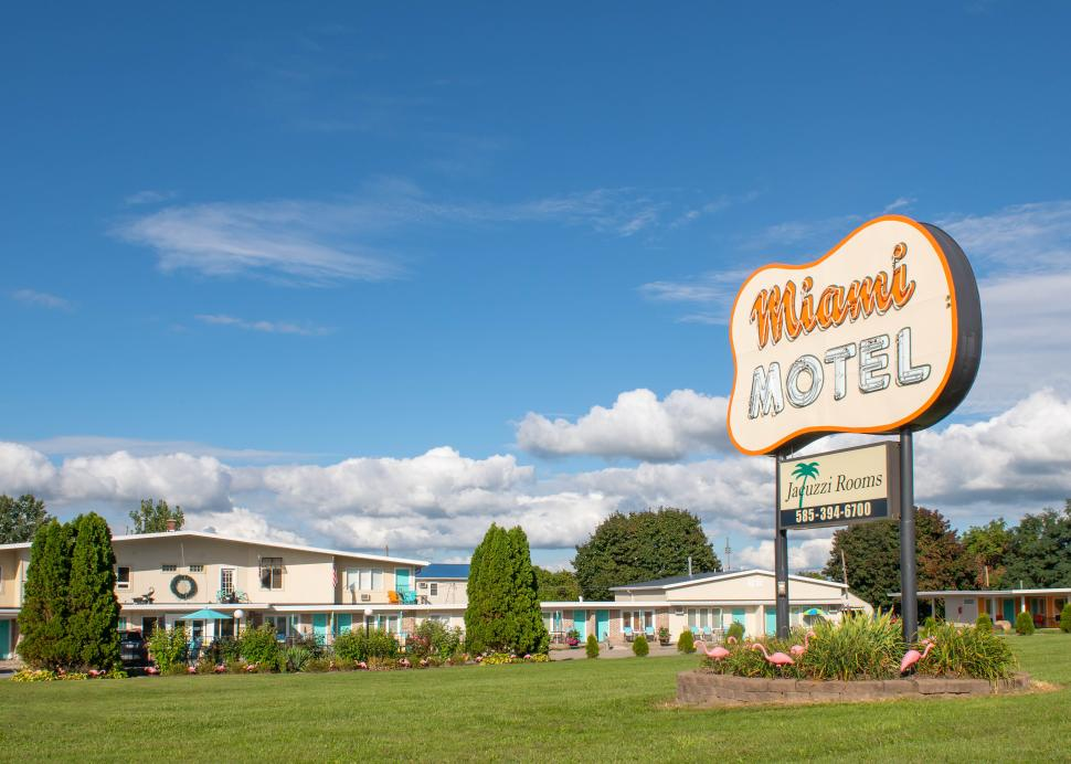 Exterior of the Miami Motel on Routes 5 & 20 in Canandaigua