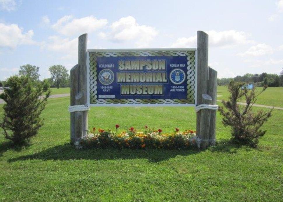 Exterior Museum Sign, Photo Credit: Sampson Military Museum