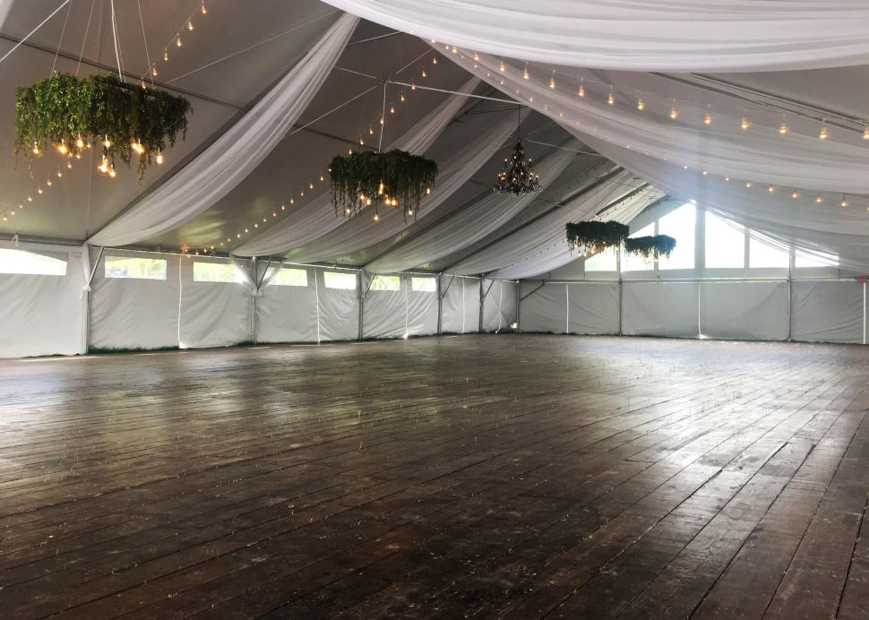 Inside of the grand tent found at the New York Kitchen